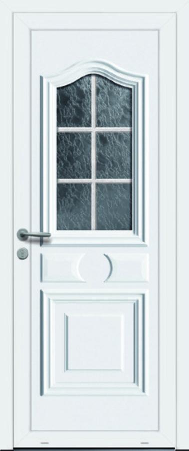 Porte d'entrée PVC avec vitrage classique