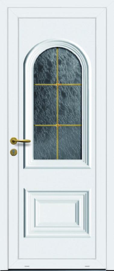Porte PVC avec grande vitre