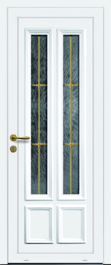 Porte d'entrée PVC double vitrage