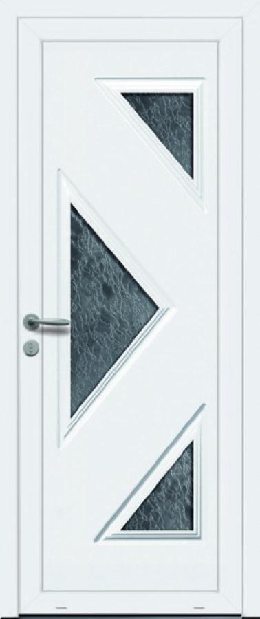 Porte d'entrée rénovation PVC originale