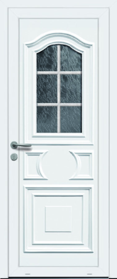Porte d'entrée PVC traditionnelle