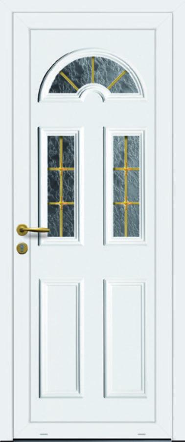 Porte PVC avec trois vitres