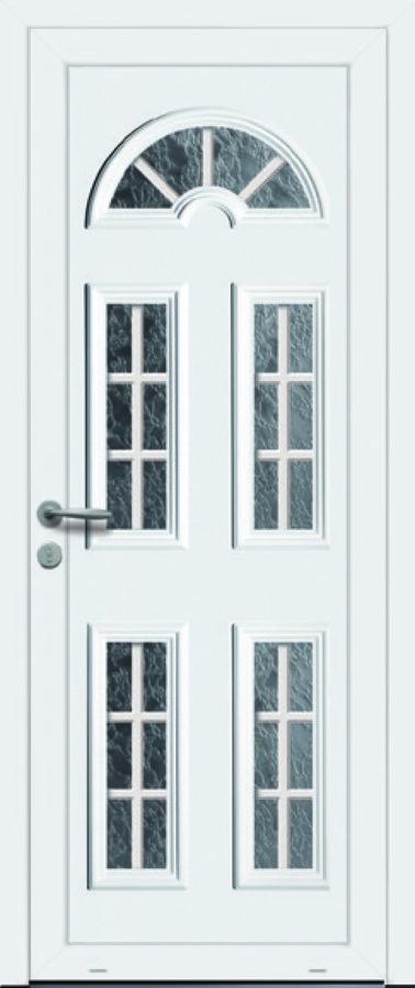 Porte d'entrée PVC avec multiple vitres