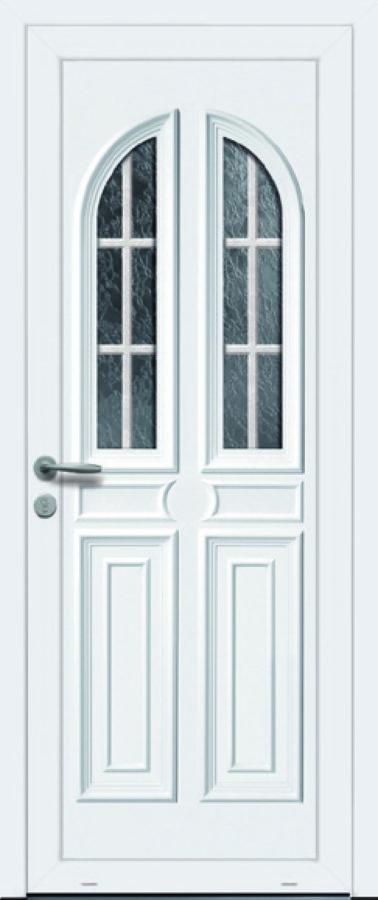 Porte PVC vitre scindée