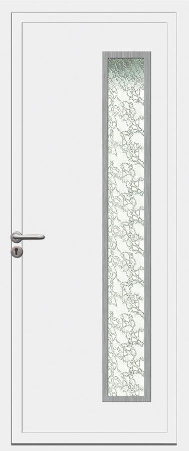 Porte d'entrée PVC avec vitre