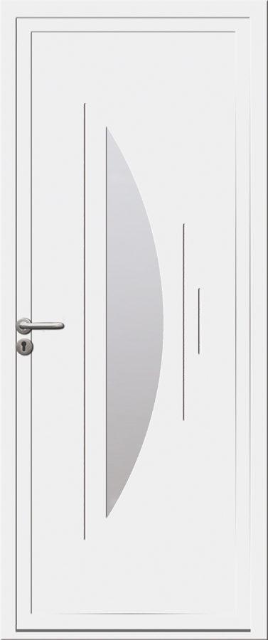 Porte PVC design et vitrée