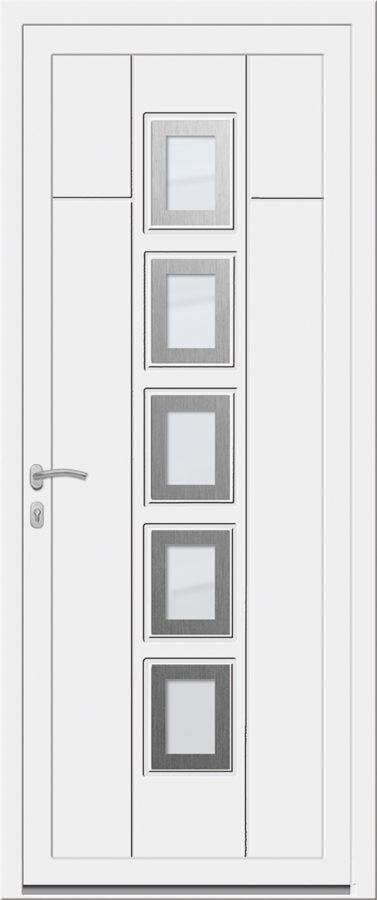 Porte d'entrée avec carreaux vitrées au milieu