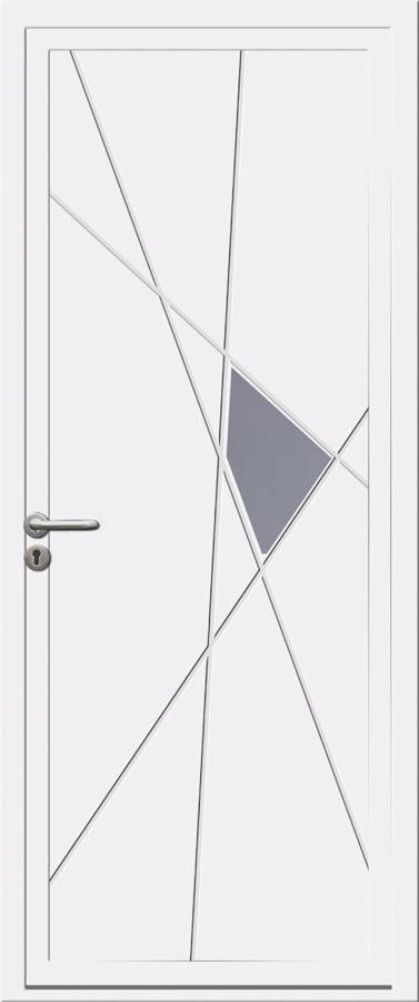 Porte d'entrée PVC avec motif géométrique