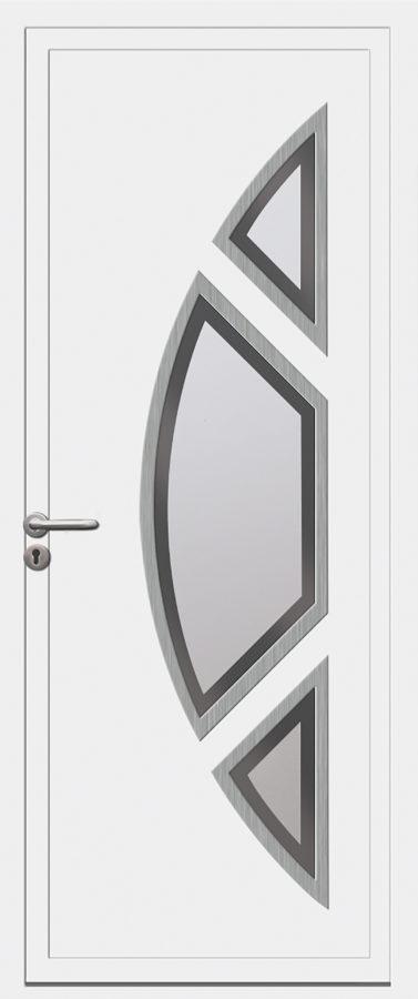 Porte d'entrée avec trois vitres