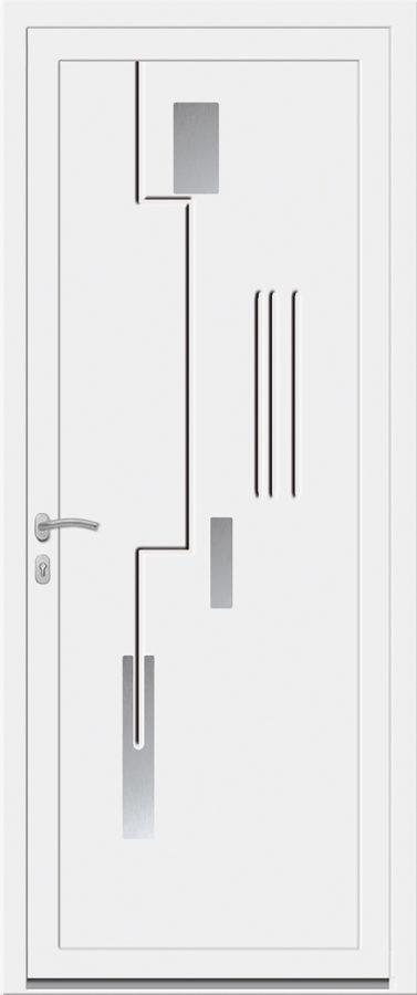 Porte PVC avec motif géométrique originale