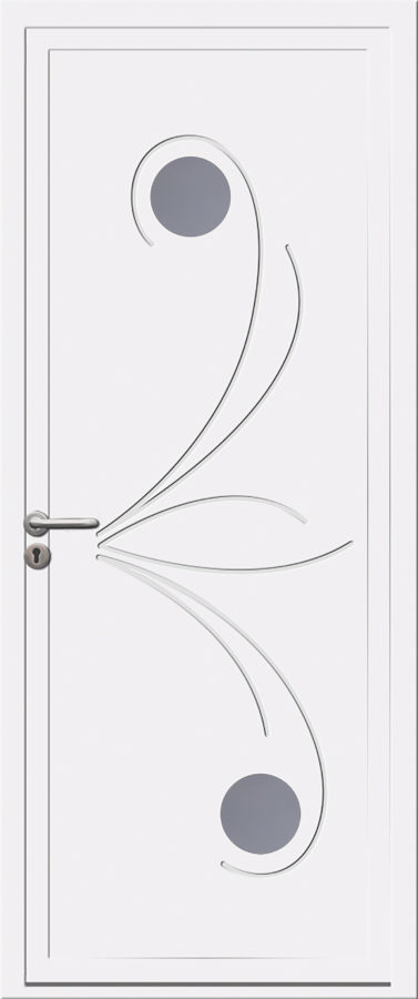 Porte d'entrée PVC originale