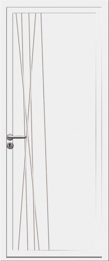 Porte PVC avec des traits