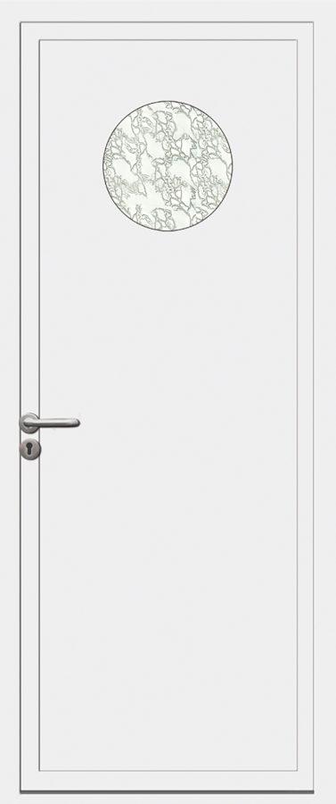 Porte PVC avec motif circulaire
