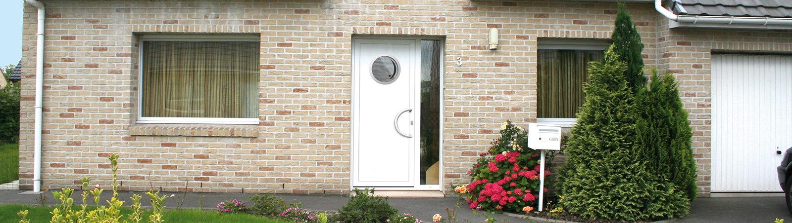 Banniere produit Porte d'entrée PVC – Moderne
